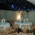 private family party in a marquee