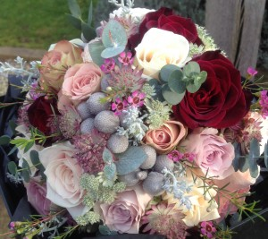 Winter vintage wedding flowers